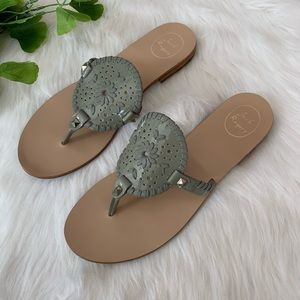 Jack Rogers | Mint Green Georgica Studded Sandals
